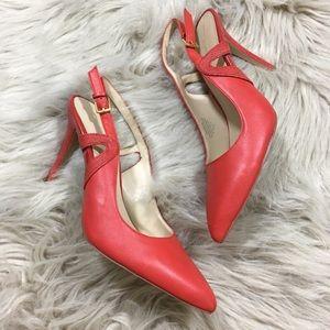 Nine West Tabitha leather slingback heels size 7